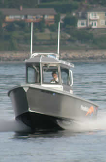 Seattle based pumpout boat underway